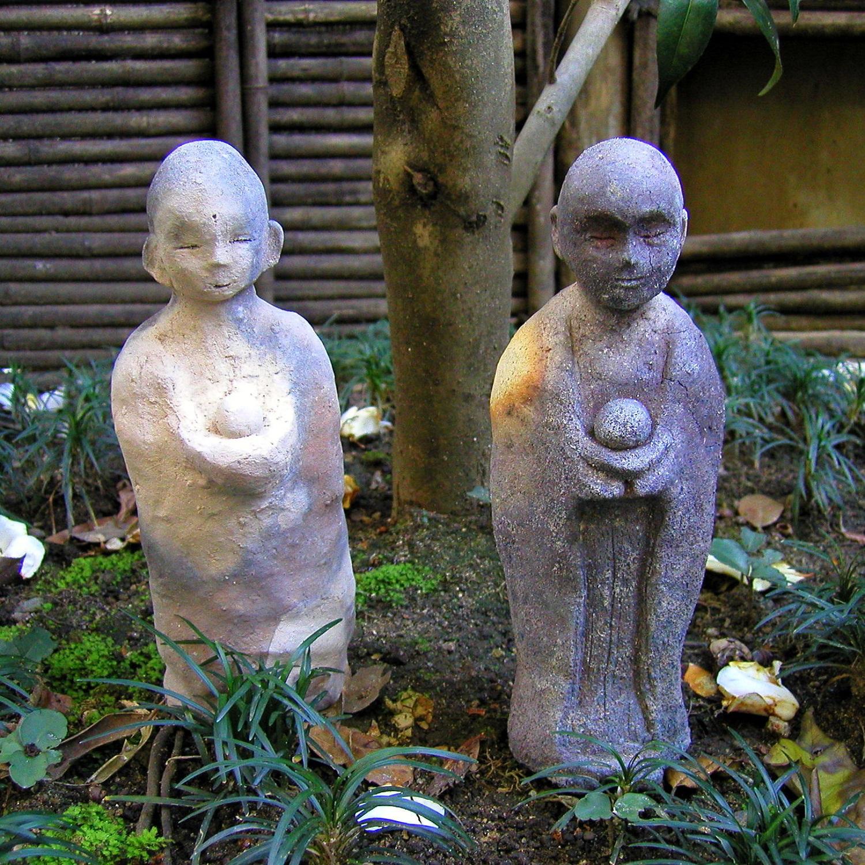 2008年12月庭の地蔵 039